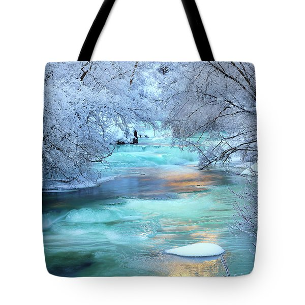 Tote Bag featuring the photograph Winter Brilliance And Beauty by Leland D Howard