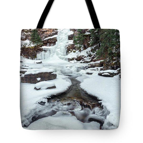Winter Falls Tote Bag