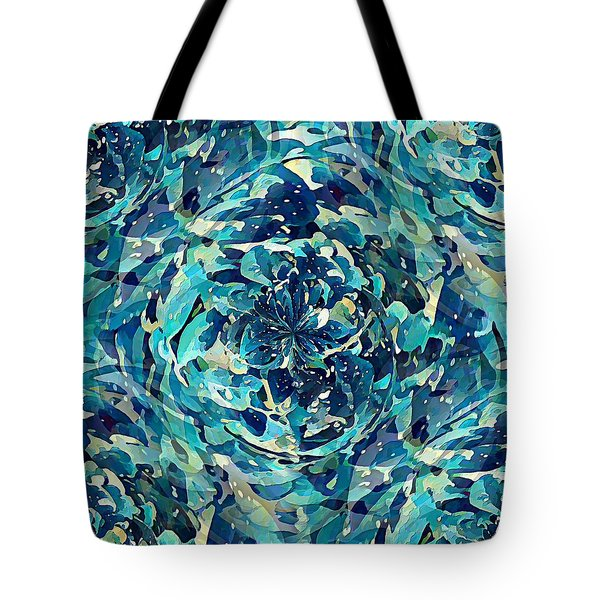 Tote Bag featuring the digital art Winter Floral by David Manlove