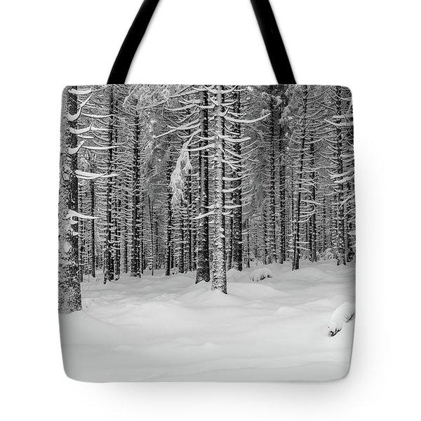 winter forest, Harz Tote Bag