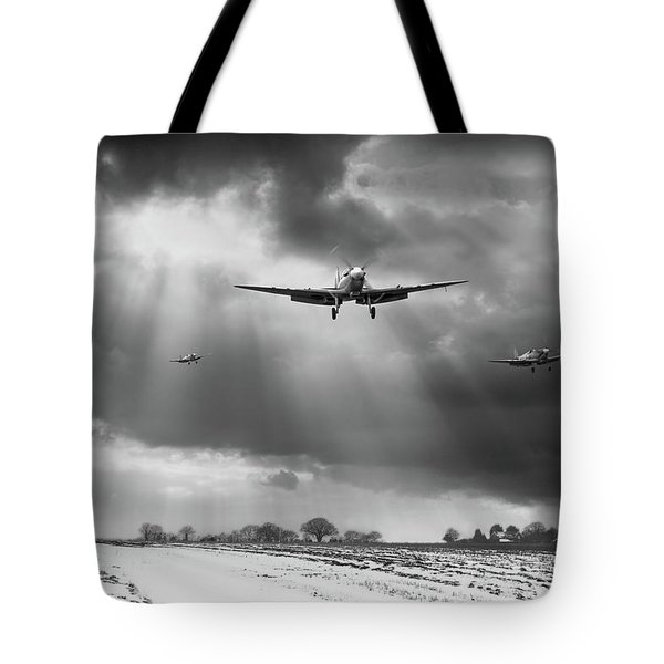 Tote Bag featuring the photograph Winter Homecoming Bw Version by Gary Eason