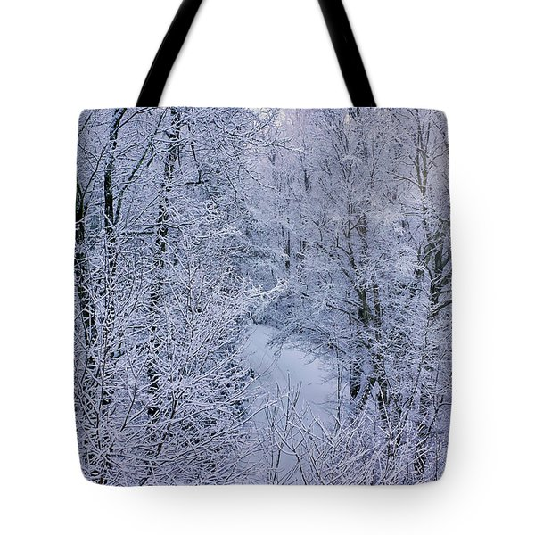 Winter Ice Storm Tote Bag