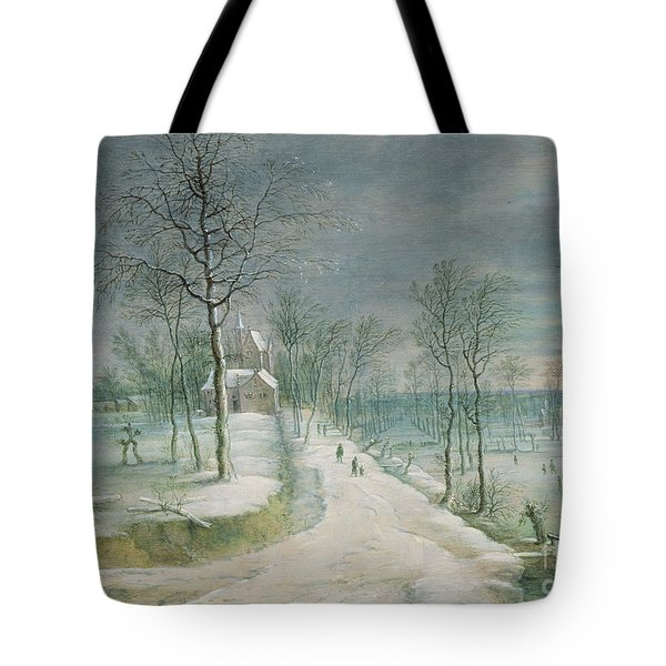 Winter Landscape By Lucas Van Uden Tote Bag