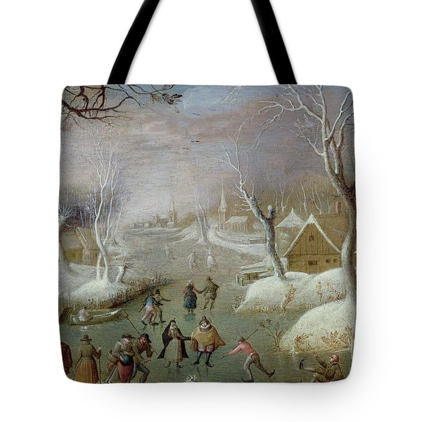 Winter Landscape With Skaters, 17th Century Tote Bag