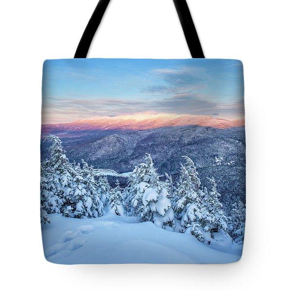 Winter Light, Mountain Views Tote Bag