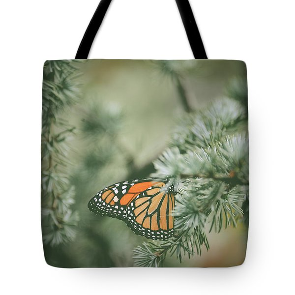 Winter Monarch Tote Bag
