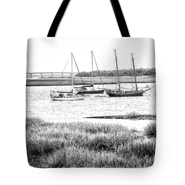 Winter Mooring - Beaufort River Tote Bag