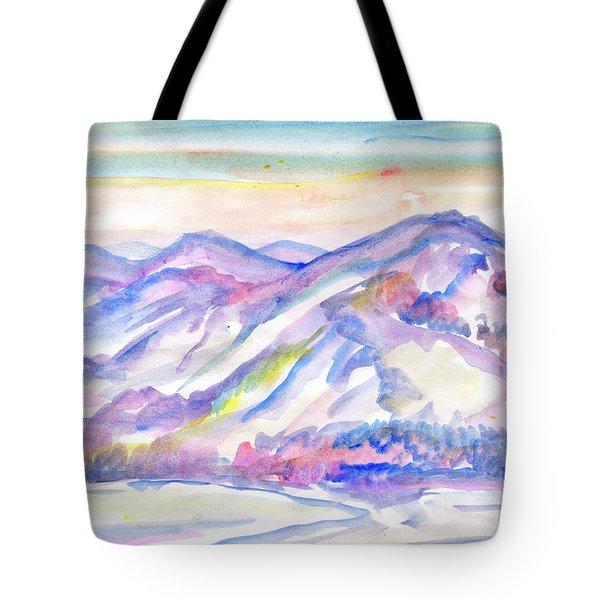 Winter Mountain Landscape Tote Bag