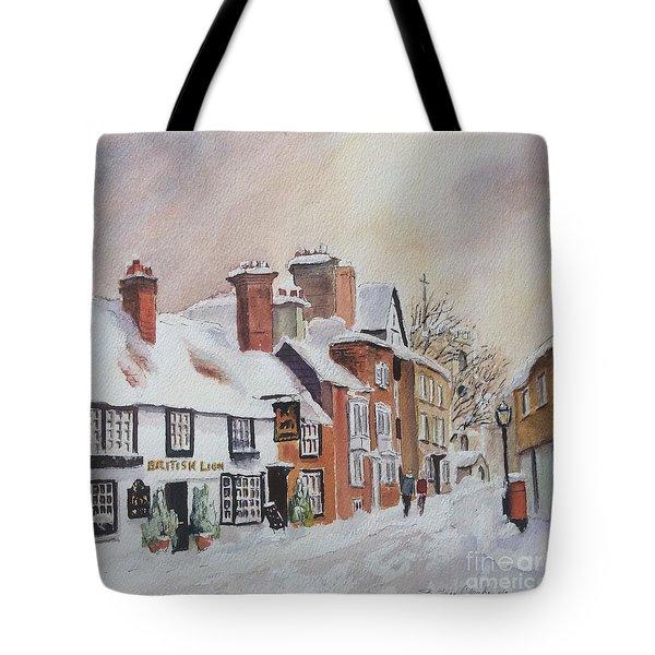 Winter On The Bayle. Folkestone Tote Bag