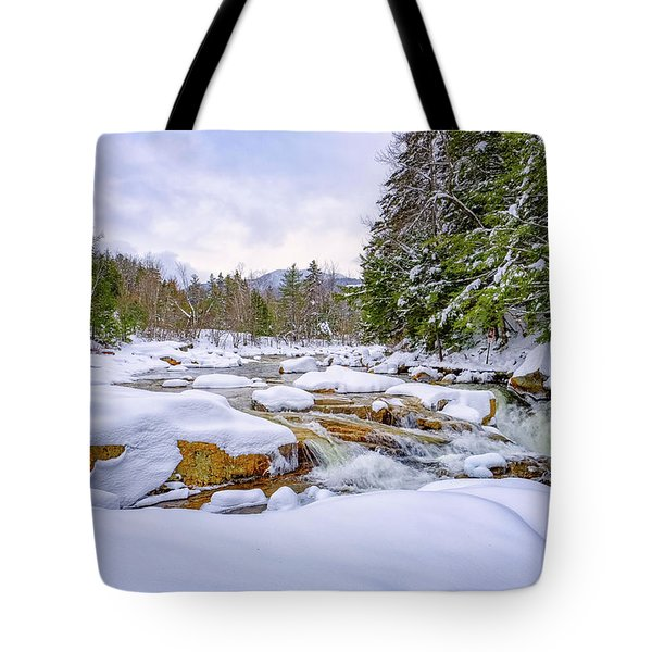 Winter On The Swift River. Tote Bag