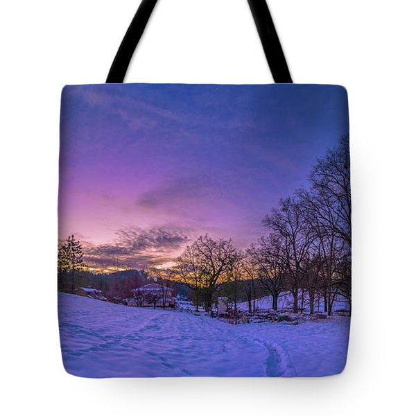 Winter Panorama Tote Bag