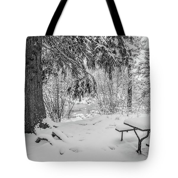 Winter Picnic Tote Bag