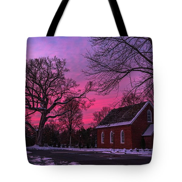 Tote Bag featuring the photograph Winter Sunrise by Lori Coleman