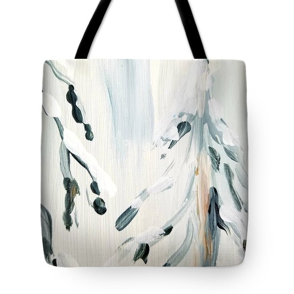 Tote Bag featuring the painting Winter Trees #3 by Maria Langgle