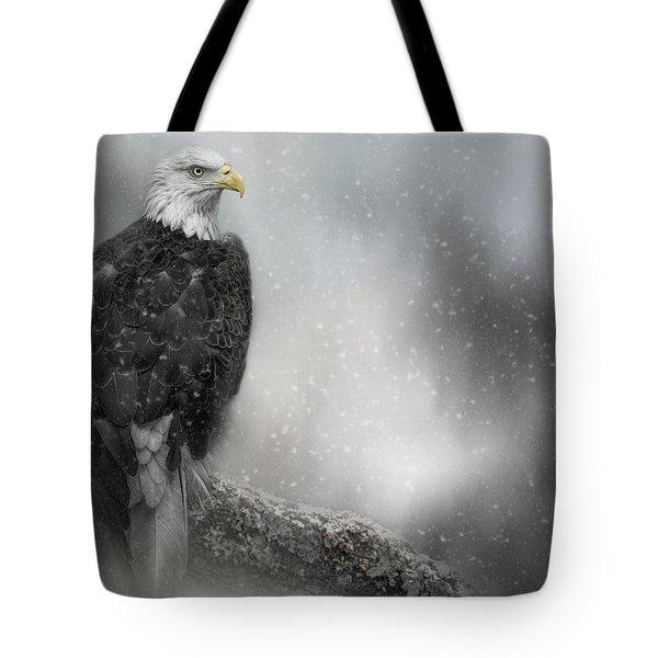 Winter Watcher Tote Bag