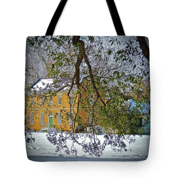 Tote Bag featuring the photograph Winter White by Don Moore