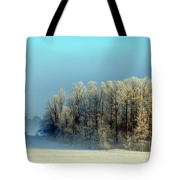 Winter's Heavy Frost Tote Bag