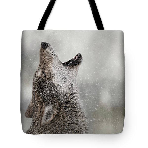 Catching Snowflakes  Tote Bag