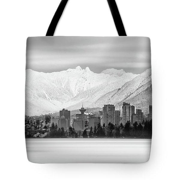 Winterscape Vancouver Tote Bag