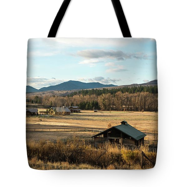 Winthrop Morning Pastures Tote Bag