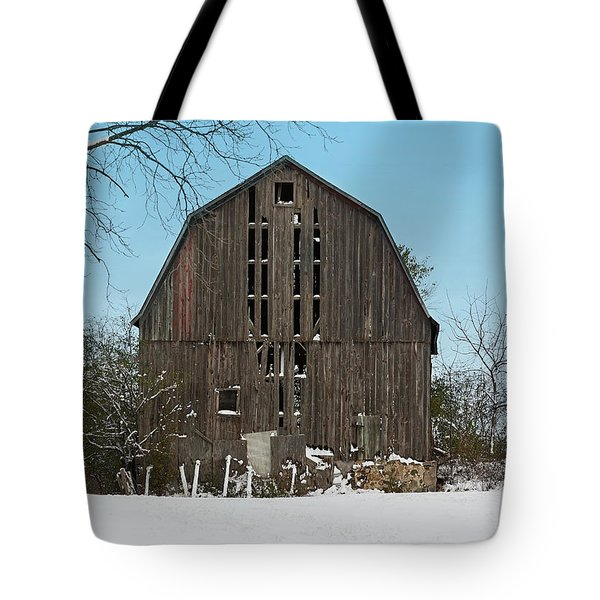 Tote Bag featuring the photograph Wisconsin Barn by Kim Hojnacki