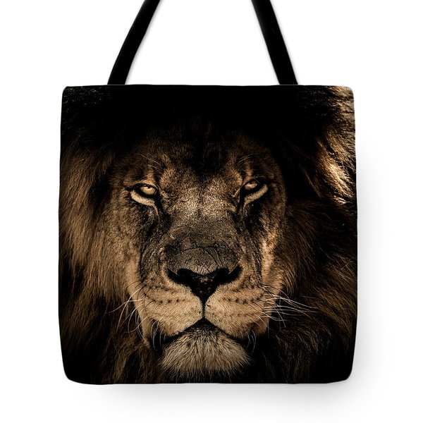 Wise Lion Tote Bag