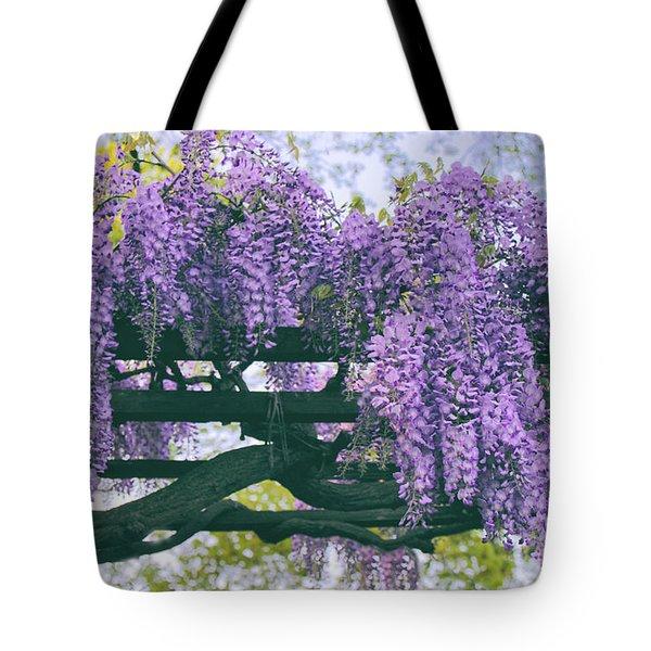 Wisteria Floribunda  Tote Bag