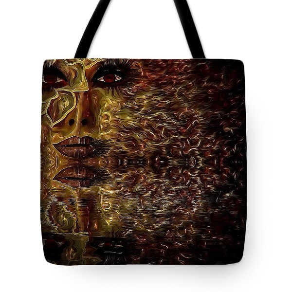 Wizard Of Flowers And Fire Tote Bag