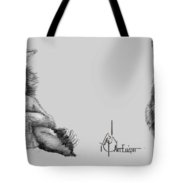 Wolf Drawings Tote Bag