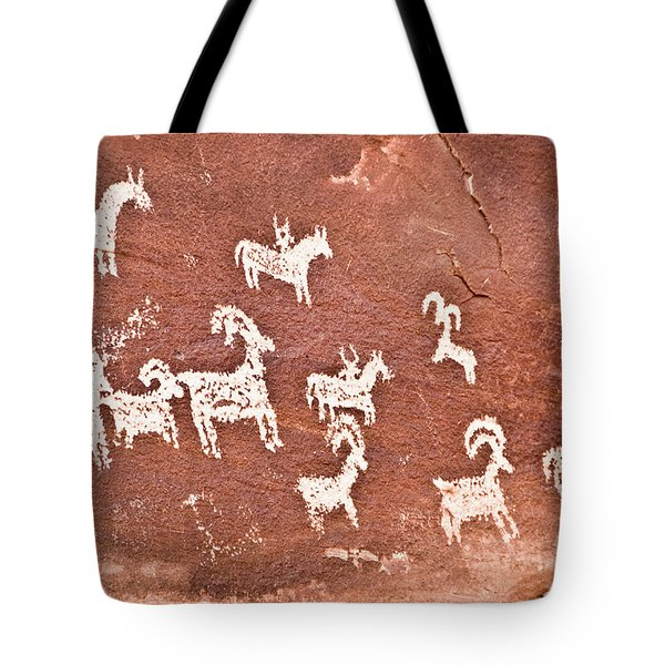 Wolfe Ranch Petroglyphs Tote Bag