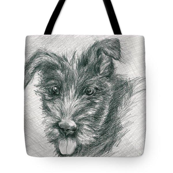 Wolfhound Puppy Sketch Tote Bag