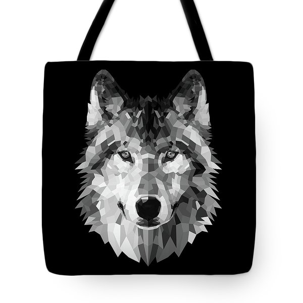 Wolf's Face Tote Bag