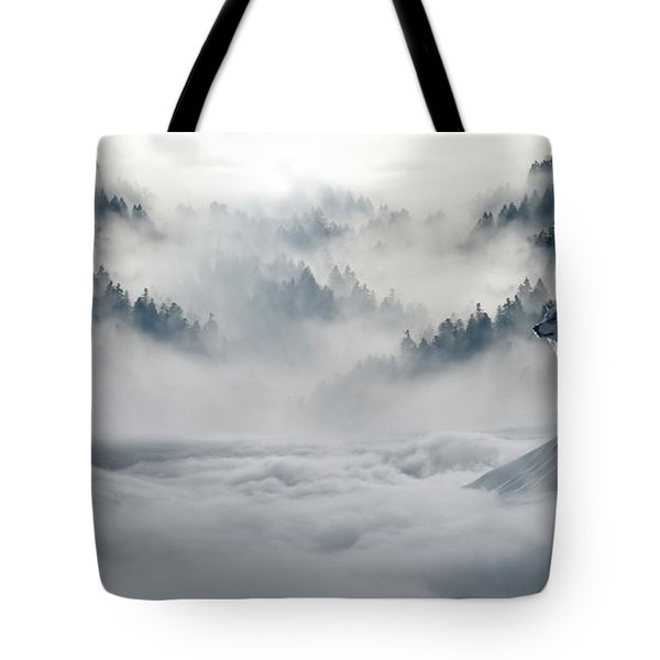Wolfs In The Snow Tote Bag