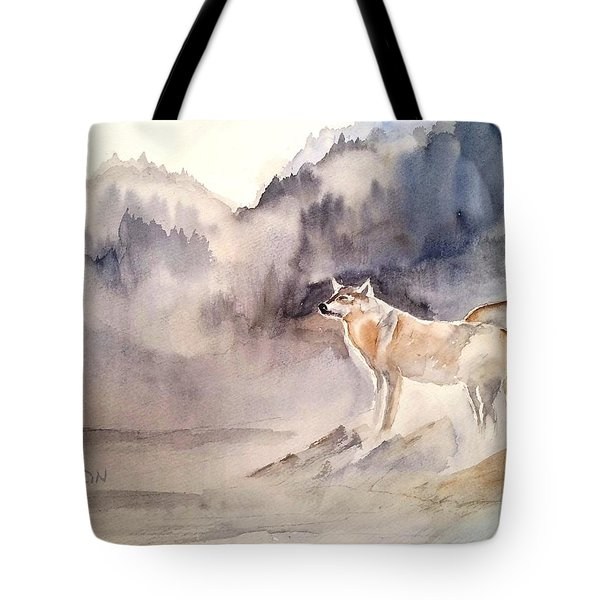 Wolves On Guard Tote Bag