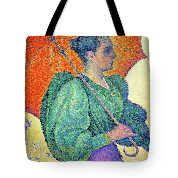 Woman With A Parasol - Digital Remastered Edition Tote Bag