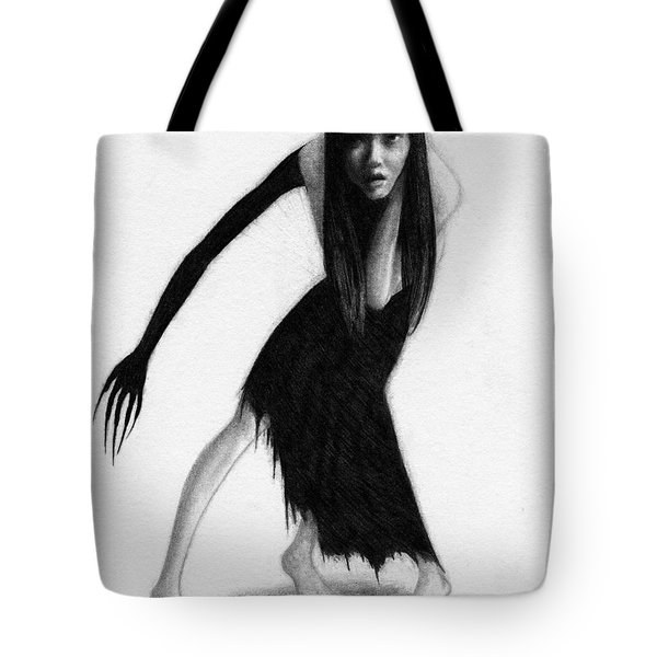 Woman With The Black Arm Of Demon Ghost - Artwork Tote Bag