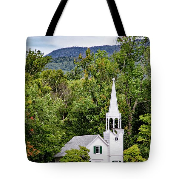 Tote Bag featuring the photograph Wonalancet Union Chapel by Betty Pauwels