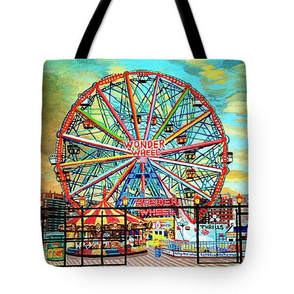 Wonder Wheel Weekender Tote Bag Version Tote Bag