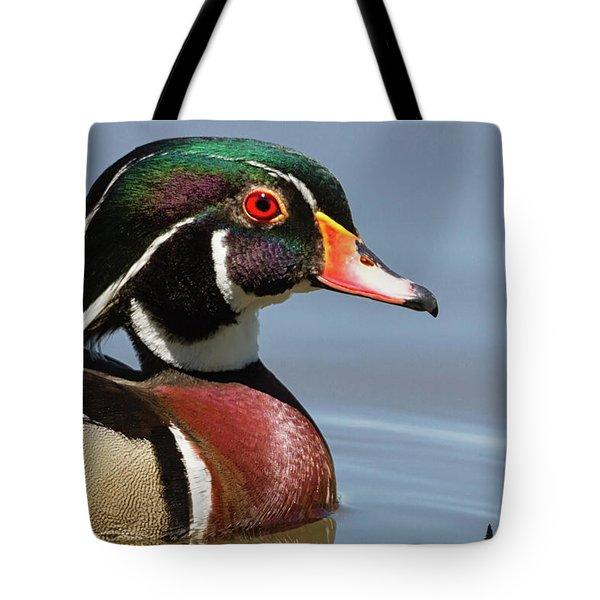 Wood Duck Portrait Tote Bag