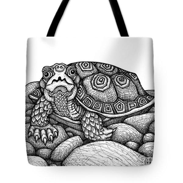Wood Turtle Tote Bag