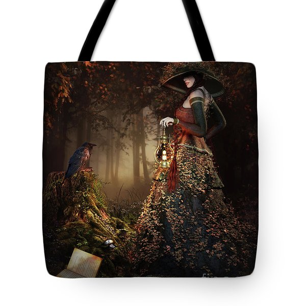 Wood Witch Tote Bag