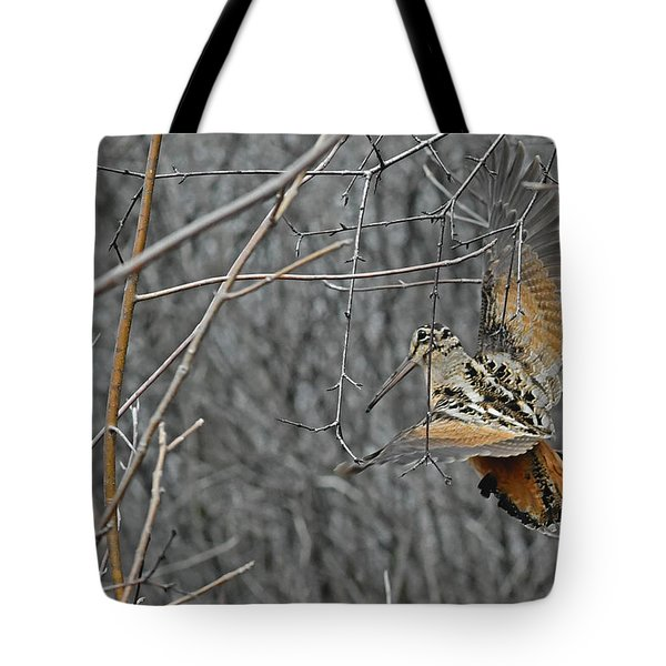 Woodcock Feathers Tote Bag