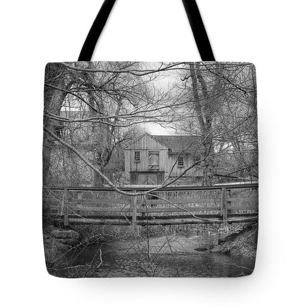 Wooden Bridge Over Stream - Waterloo Village Tote Bag