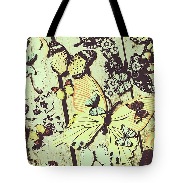 Wooden Spring Tote Bag