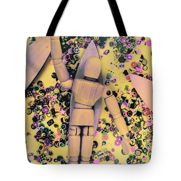 Wooden Tropics Tote Bag