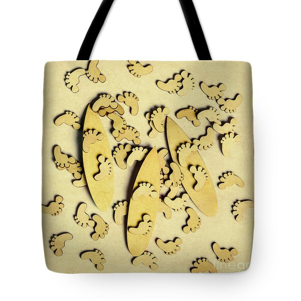 Wooden Wave Riders Tote Bag