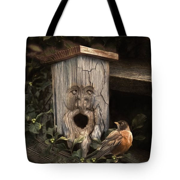 Tote Bag featuring the photograph Woodsprite by Robin-Lee Vieira