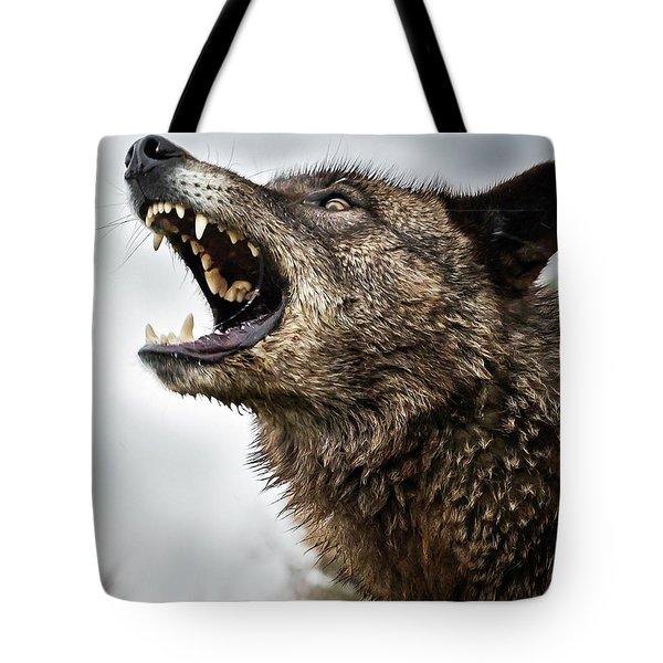 Woof Wolf Tote Bag