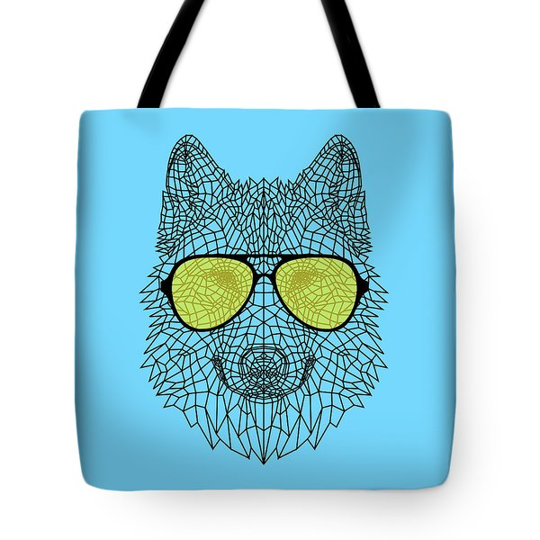 Woolf In Yellow Glasses Tote Bag
