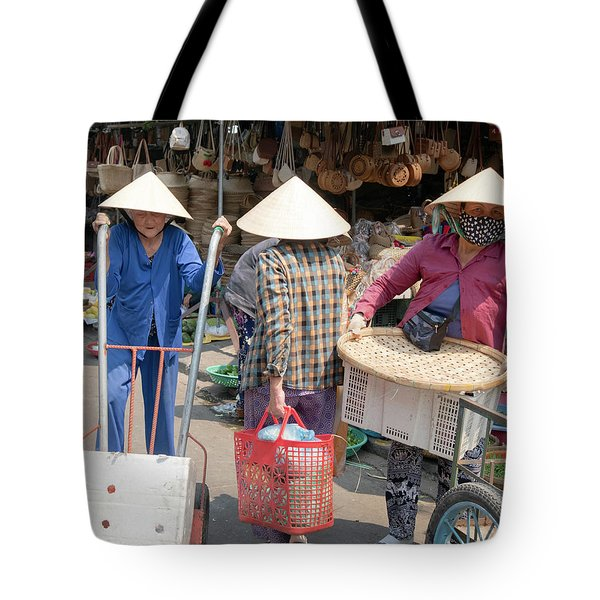 Working Women In Vietnam Tote Bag